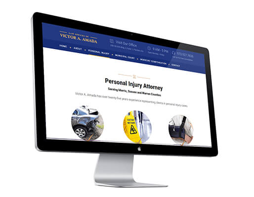 Amada website - new version - personal injury page