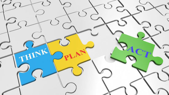Think, Plan, Act Puzzle Pieces